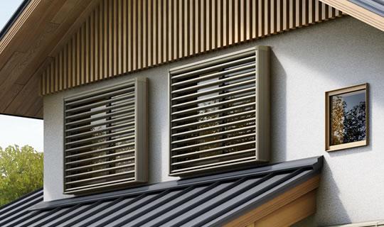 綠風戶外升降百葉窗-手動式